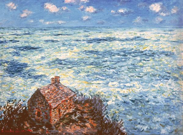 1)クロード・モネ「税関吏の小屋・荒れた海」600-441