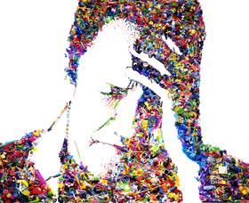 9_ヴィック・ムニーズ《自画像、私は悲しすぎてあなたと話すことができない-バス・ヤン・アデルによる》2003年-280-228