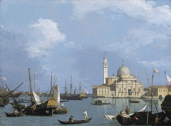 (1)カナレット《サン・ジョルジョ・マッジョーレ聖堂:サン・マルコ沖に望む》