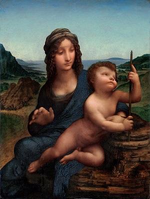 1.レオナルド・ダ・ヴィンチ 《糸巻きの聖母》