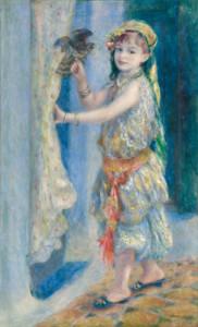 ピエール=オーギュスト・ルノワール 《鳥と少女(アルジェリアの民族衣装を つけたフルーリー嬢)》