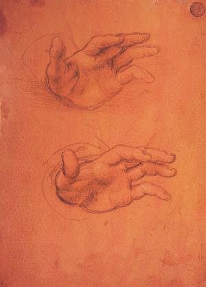 5.レオナルド・ダ・ヴィンチと弟子 《手の研究》
